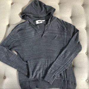 NSF Hoodie Sweater Kangaroo Pocket Grey XL